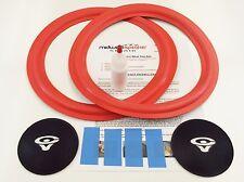 """Cerwin Vega VE-12 - 12"""" Woofer Foam Speaker Repair Kit w/ CV Logo Dust Caps!"""