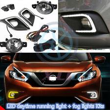 For Nissan Murano 2015-2018 LED DRL Daytime Running Light & Fog Lamp Wiring Sets