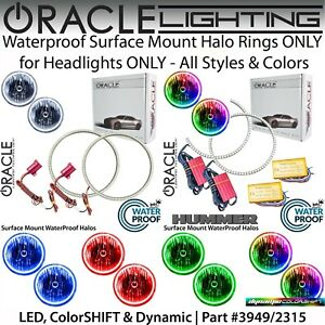 ORACLE Surface Mount Halos for Headlights for 06-10 Hummer H3 & H3T *All Colors