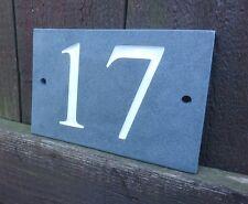 Natural Deep Engraved Slate Door Number Gate House Plaque Sign ANY NUMBER/LETTER