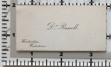 Antique Calling Card Dr Russell Winterton Westerham