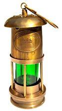 "Brass Royal Navy Oil Lamp Leeds Burton Nautical Maritime 6"" Ship Lantern"