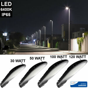 LED Samsung Chip Straßen Lampen Mast Außen Leuchten ALU Fluter Hof Wege Laternen