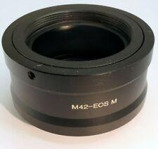 M42 screw Mount Lens to Canon EOS M EF-M Mirrorless Camera Adapter Ring M M2 M10