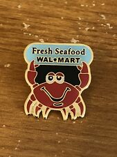 Rare Walmart Lapel Pin Fresh Seafood Department Crab Wal-mart Pinback