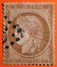MARCOPHILIE sur Emission Ceres  n°58 10c (TB-1081-3)brun sur rose