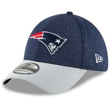 New Era Navy/Gray New England Patriots Sideline Home Official 39THIRTY Hat L/XL