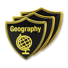 'Geography' Subject Shield School Badge