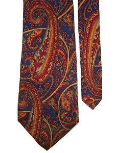 "Sutton Bridge Men's Silk Neck Tie Paisleys Red Multi 4"" x 57"""