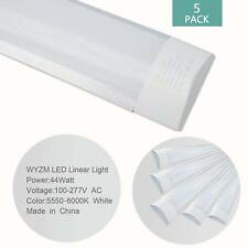5Pack of 44W Vaporproof Flush Mount 4ft LED Shop Light,4200Lumens 6500K Daylight