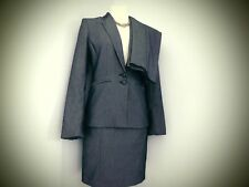 NEXT GREY BLACK SPOT SKIRT JACKET TROUSERS  OFFICE FORMAL BUSINESS SIZE 8 10