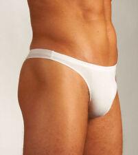 HOM Business Nature Fredy G-string Thong Briefs Slip Micro Underwear 36 White