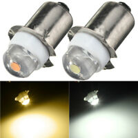 P13.5S PR2 Warm/White Led FlashLight Bulb High Brightness Lampadina 3V/4.5V/6V