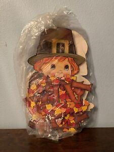 VTG teacher decoration Thanksgiving pilgrims Paper Cutout decoration