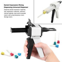 1:1 /1:2 Ratio Dental Impression Mixing Dispenser Dispensing Caulking Gun 50ml