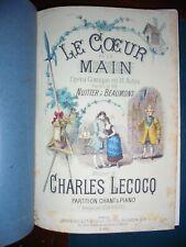Lecocq C.; LE COEUR ET LA MAIN opera comique en 3 actes ; Brandus Ed. 1882