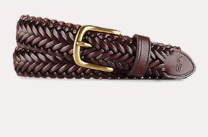 Polo Ralph Lauren Braided Leather belt Size 28 70