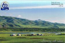 Postcard Mongolei Mongolia Mongolie Nomade Nomad Jurte yurt Steppe landscape pc