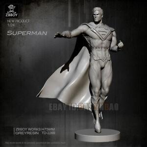 Unpainted 1/24 75MM Superman is Coming Resin Figure Model Kit Unassembled GK