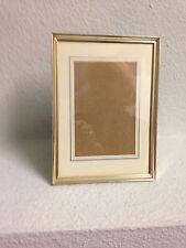 Bilderrahmen - Metallrahmen - goldfarben - ca. 17,5 x 13 cm