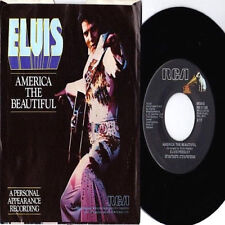 "King ELVIS Presley ""My Way / America THE BEAUTIFUL"" Rare Recalled 7"" & P/S! M/M-"