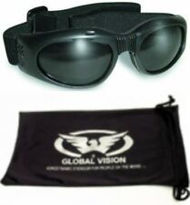 Smoked PADDED Motorcycle Riding Glasses Sunglasses Anti Fog Biker goggles Moped