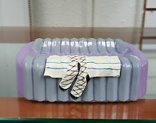 Annie Lee Purple Primpin SOAP DISH /Bathroom/Black Americana/