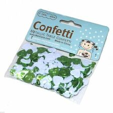 Pack of Bright Green & White Heart Confetti - Pack 14g - XMCC04