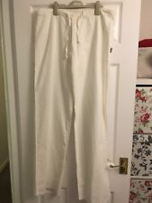 PEPE White Linen Trousers XL ( Or XXL) Womans