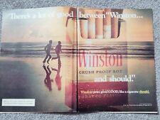 WINSTON CIGARETTE, TDK, HEINEKEN ORIG. VTG 1974 PHOTO AD, DBL PAGE COLLECTIBLE