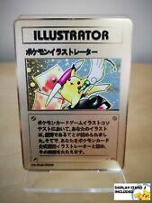 Pikachu ILLUSTRATOR Gold METAL CUSTOM Pokemon Card With DISPLAY STAND