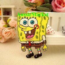 1 x spongebob patch patches girls boys jeans iron sew on cartoon child kids tv
