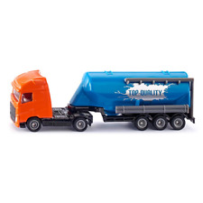 CAMION WITH SILO TRAILER 1:87 Siku Camion Die Cast Modellino