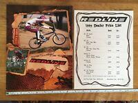 """Old School Red Prisme BMX Nombre Numéro De Plaque # 2 GT new old stock 5.5/"""" RARE Haro Zeronine"""