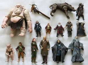 Action Figures - The Hobbit LOTR NLP - The Goblin King & More  Good Condition