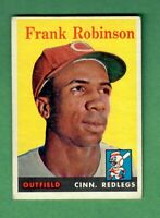 1958 TOPPS #285 FRANK ROBINSON HALL OF FAME CINCINNATI REDS VG-EX
