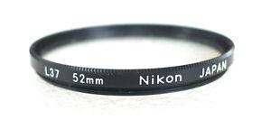 52mm Nikon L37 UV Filter - Near PERFECT