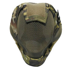 Airsoft Paintball Masks Tactical Steel Mesh Full Face V6 Mask CP