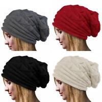 Pink Summer Womens Knit Slouchy Beanie Hats Caps Accessories Cheap