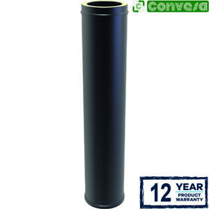 6inch Twin Wall Stove Flue Kit Black Pipe Fittings Bends 150mm Convesa Stoves