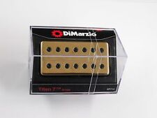 DiMarzio Titan 7 String Bridge Humbucker W/Gold Cover & Black Poles DP 714