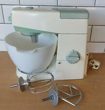 Vintage Kenwood Chef A701A Food Mixer, White Duck Egg Blue, With Accessories