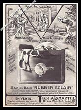 Publicité Rubber Eclair Sac de Bain Piscine Art Deco Design Vintage Ad 1931