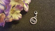 Diabetic Silver Dangle Charm for Living Lockets or Bracelets - US Seller