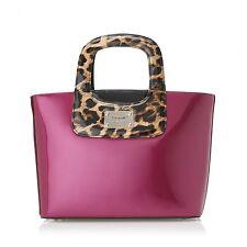 Serenade Darlene Leopard Handles Patent Leather Handbag (SH37-7187)