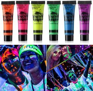 UV Glow Neon Face Paint Body Paint 25ml Fluorescent Festival Makeup