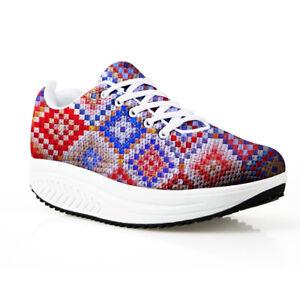 Women Funky Outdoor Walking Comfort Shoes Platform Sneakers Toning Shake Shoes