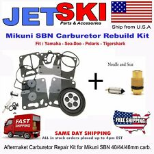 SEADOO SINGLE Carb Mikuni Carburetor Rebuild Kit & Needle/Seat 1997-1998 GTI GTS