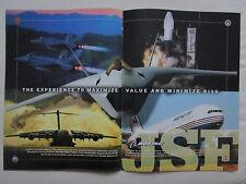 9/2001 PUB BOEING JSF C-17 F/A-18E/F SUPER HORNET DELTA USAF ORIGINAL AD
