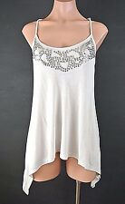 Guess Top Light Gray Tank Top Camisole/Cami Adjustable straps sleeveless M NWT